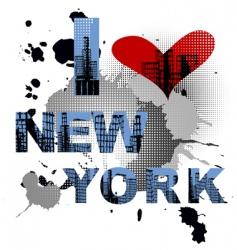 grunge typography vector image