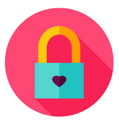 love padlock circle icon vector image vector image