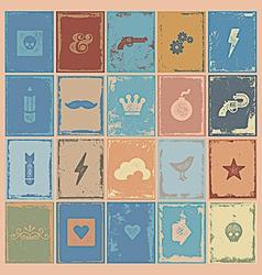 Poster symbols grunge vector image vector image
