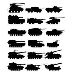 Self-propelled artillery-1 vector image vector image