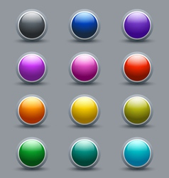 Set of glossy button icons vector image vector image