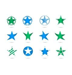 star logos vector image vector image