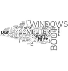 What to do when windows won t boot text word vector