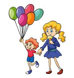 A girl and a boy vector image
