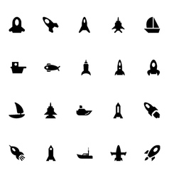Aircraft and Ships Icons 4 vector image vector image