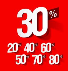 sale percents vector image