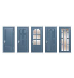 set of doors vector image