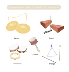 Set of Indefinite Pitch Instruments vector image vector image