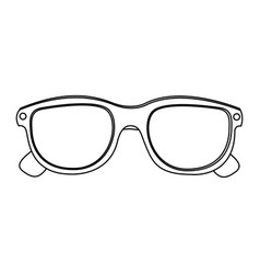 3d glasses cinema movie icon vector