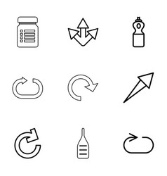 9 refresh icons vector image