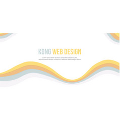 Abstract header website yellow white vector