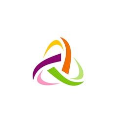 Abstract triangle circle technology logo vector