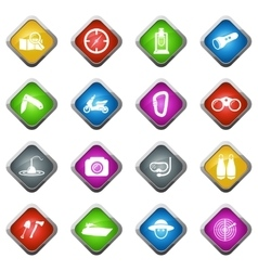 Active recreation icons vector image