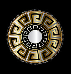 ancient round decorative ornament gold vector image