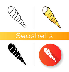 auger shell icon vector image