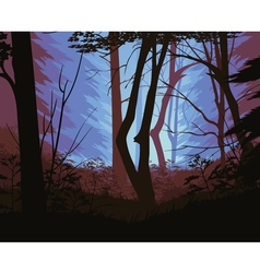 Background of landscape with deep forest vector image