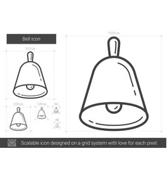 Bell line icon vector