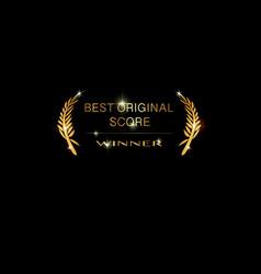 best original score winner concept gold icon vector image