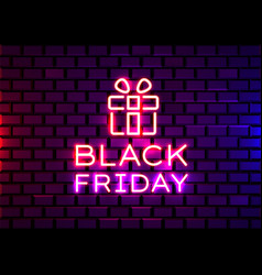 Black friday realistic isolated neon sign for vector