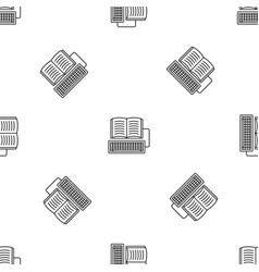 book keyboard writing pattern seamless vector image