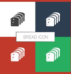 Bread icon white background vector