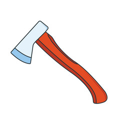 Camping axe icon concept for outdoor and hike vector