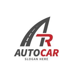 car company or rental cars logo template vector image