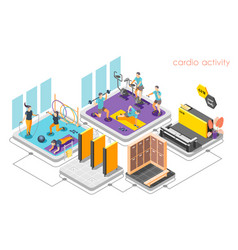 Cardio activity isometric composition vector
