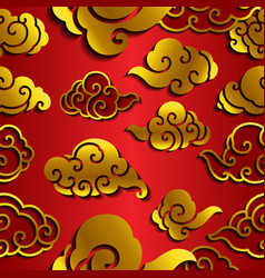 Chinese cloud wave seamless wallpaper vector