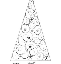 Christms Tree Drawing vector