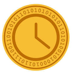 Clock digital coin vector