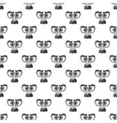 Clown face seamless pattern vector