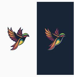 colorbird logo design concepts vector image