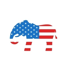 Elephant as a Symbol of American Republicans vector image