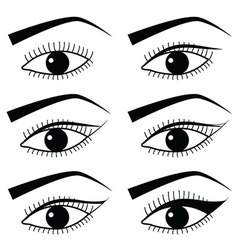 Eye make up with use of Eyeliner in Asian style vector image