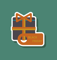 Fashion patch sale sticker gift box black friday vector