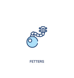 Fetters concept 2 colored icon simple line vector
