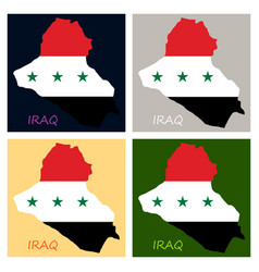 flag map of iraq vector image