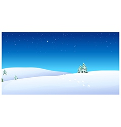 Footprints over snow mountain vector image