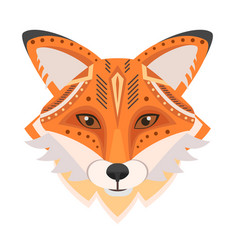 Fox head logo decorative emblem vector