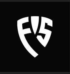 fs logo monogram with shield elements shape vector image