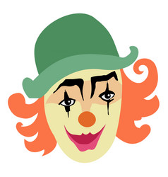 Funny smiling clown vector