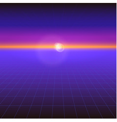 futuristic abstract background with sun vector image