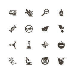 gmo - flat icons vector image vector image