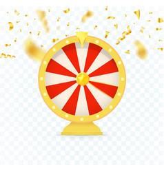 Golden fortune wheel icon random choice wheel vector