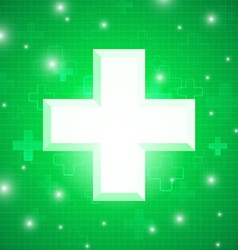 Green medical design vector