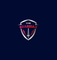 Guardian logo modern design vector