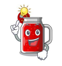 Have an idea fresh tomato juice isolated on mascot vector
