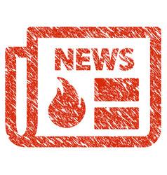 Hot news icon grunge watermark vector