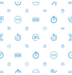Hour icons pattern seamless white background vector
